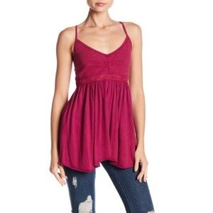 Melrose and Market Embroidered Knit Cami NWOT